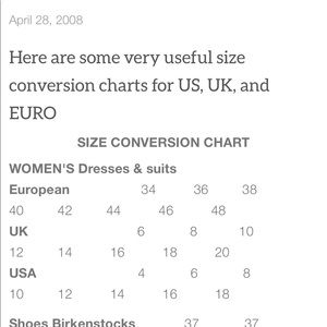 Other - A handy conversion chart!